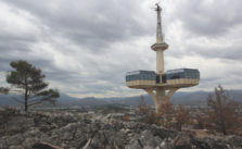 Uitzicht over de hoofdstad Podgorica in Montenegro.